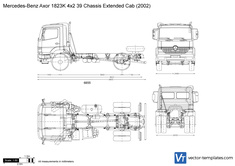 Mercedes-Benz Axor 1823K 4x2 39 Chassis Extended Cab
