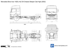 Mercedes-Benz Axor 1823L 4x2 39 Chassis Sleeper Cab High