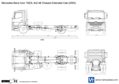 Mercedes-Benz Axor 1823L 4x2 48 Chassis Extended Cab