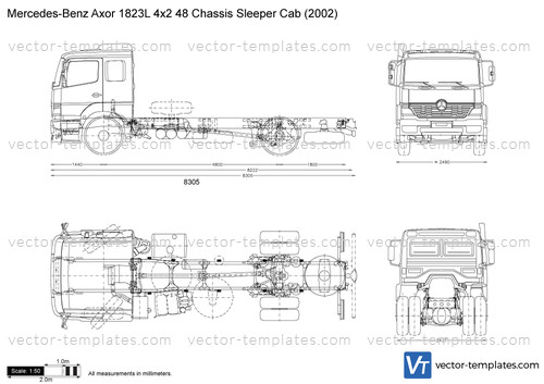 Mercedes-Benz Axor 1823L 4x2 48 Chassis Sleeper Cab
