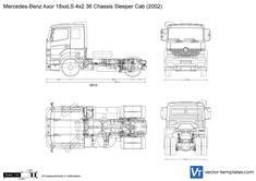 Mercedes-Benz Axor 18xxLS 4x2 36 Chassis Sleeper Cab
