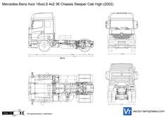 Mercedes-Benz Axor 18xxLS 4x2 36 Chassis Sleeper Cab High