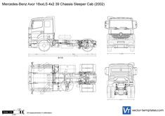 Mercedes-Benz Axor 18xxLS 4x2 39 Chassis Sleeper Cab