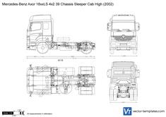 Mercedes-Benz Axor 18xxLS 4x2 39 Chassis Sleeper Cab High