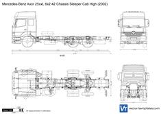 Mercedes-Benz Axor 25xxL 6x2 42 Chassis Sleeper Cab High