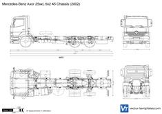 Mercedes-Benz Axor 25xxL 6x2 45 Chassis
