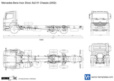 Mercedes-Benz Axor 25xxL 6x2 51 Chassis