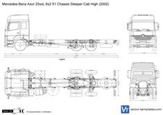Mercedes-Benz Axor 25xxL 6x2 51 Chassis Sleeper Cab High