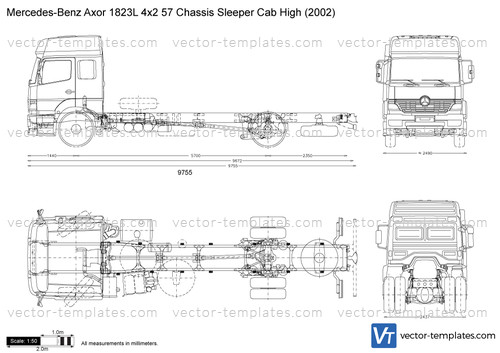 Mercedes-Benz Axor 1823L 4x2 57 Chassis Sleeper Cab High