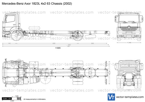 Mercedes-Benz Axor 1823L 4x2 63 Chassis