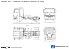 Mercedes-Benz Axor 1828LS 4x2 36 Chassis Sleeper Cab