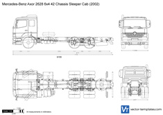 Mercedes-Benz Axor 2628 6x4 42 Chassis Sleeper Cab