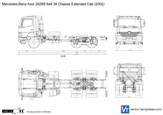 Mercedes-Benz Axor 2628B 6x4 39 Chassis Extended Cab