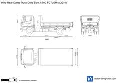 Hino Rear Dump Truck Drop Side 3.5m3 FC7JGMA