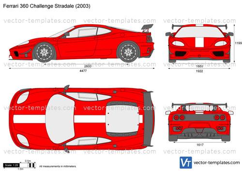 Templates Cars Ferrari Ferrari 360 Challenge Stradale