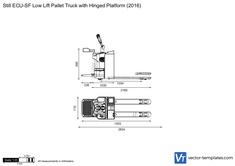 Still ECU-SF Low Lift Pallet Truck with Hinged Platform