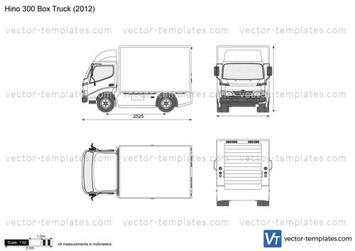 templates trucks hino hino 300 box truck