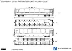 Stadler Bernina Express Rhatischen Bahn (RhB) Switzerland