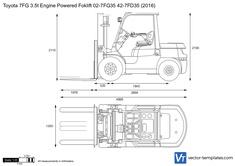 Toyota 7FG 3.5t Engine Powered Foklift 02-7FG35 42-7FD35
