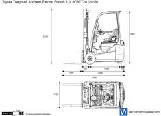Toyota Traigo 48 3-Wheel Electric Forklift 2.0t 8FBET20