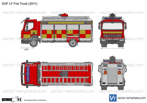 templates trucks daf daf lf fire truck