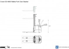 Crown ES 4000 Walkie Fork Over Stacker