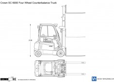 Crown SC 6000 Four Wheel Counterbalance Truck