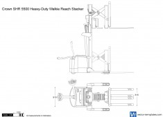 Crown SHR 5500 Heavy-Duty Walkie Reach Stacker