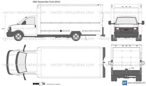 templates cars gmc gmc savana box truck