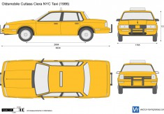 Oldsmobile Cutlass Ciera NYC Taxi