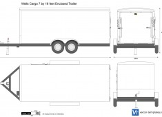 Wells Cargo 7 by 16 feet Enclosed Trailer