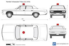 Rambler Ambassador Police Car