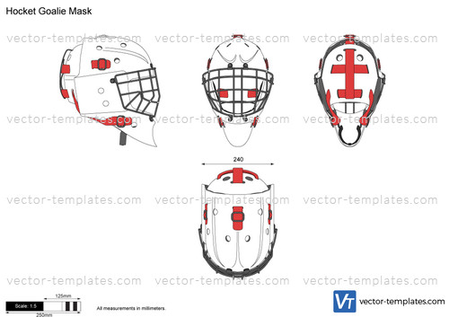 templates miscellaneous clothing hocket goalie mask. Black Bedroom Furniture Sets. Home Design Ideas