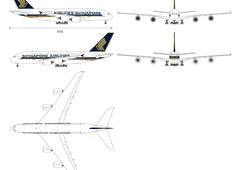 Airbus A380-841 9V-SKT Singapore Airlines