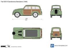 Fiat 500 B Giardieniera Belvedere