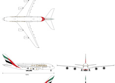 Airbus A380-861 A6-EOI Emirates