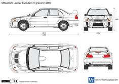 Mitsubishi Lancer Evolution V gravel