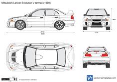 Mitsubishi Lancer Evolution V tarmac
