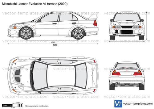 Mitsubishi Lancer Evolution VI tarmac
