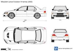 Mitsubishi Lancer Evolution VII tarmac