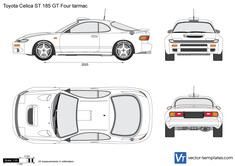 Toyota Celica ST 185 GT Four tarmac