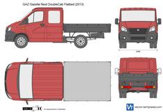 GAZ Gazelle Next DoubleCab Flatbed