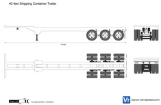 40 feet Shipping Container Trailer