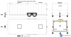 Cargo Xpress 22 feet Enclosed Trailer
