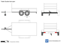 Trailer Double Axle open