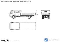 Hino 817 Auto Crew Tipper Rear Dump Truck