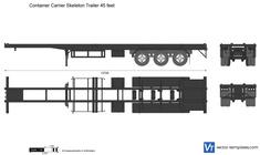 Container Carrier Skeleton Trailer 45 feet