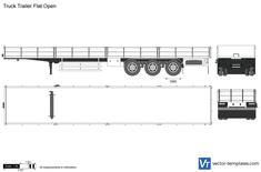 Truck Trailer Flat Open