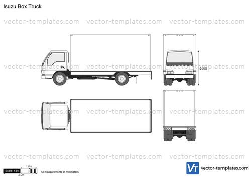 templates - trucks - isuzu