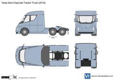 Tesla Semi DayCab Tractor Truck